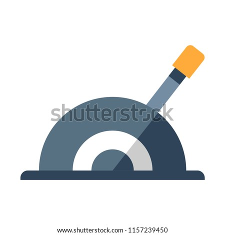 A lever vector illustration in flat color design Stock photo ©