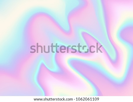 A Light iridescent holographic vector foil pattern background.