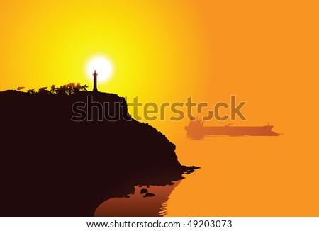 A lighthouse on the harbor of Dalian, China