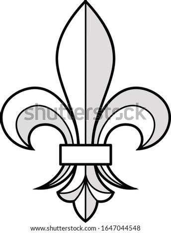 a lily  or fleur de lis  was