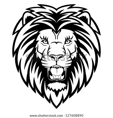 a lion head logo this is