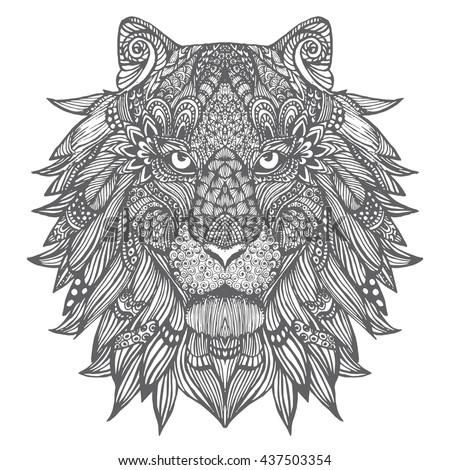 a lion portrait of a wild cat