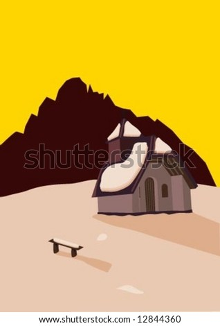 a little chapel on the top of a