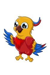 A little cute baby parrot bird design animal cartoon vector illustration