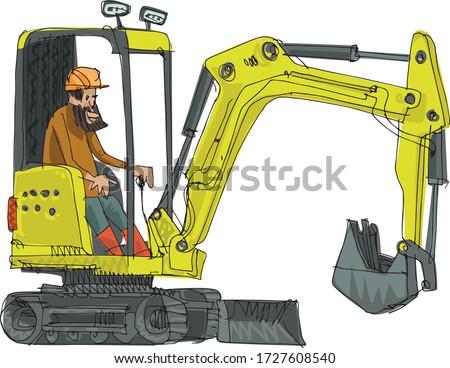 a little cute excavator control