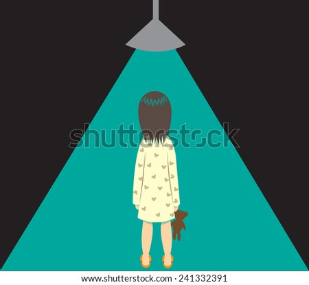 a little girl is under a beam