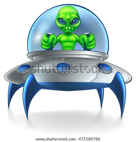 a little green man alien