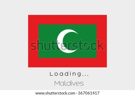 a loading flag illustration of