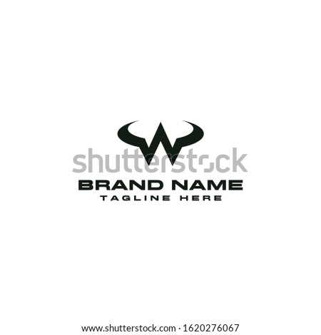 A Logo Template That Describes The Strengths And Wilds Are Represented With Horns Forming The Initial W Of The Word Wild