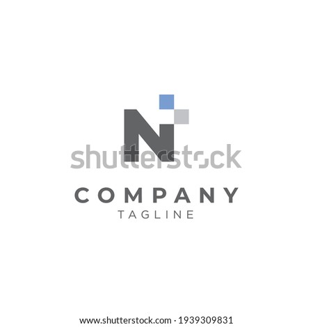 A logo with the initials letter N  modern and sophisticated  Stock fotó ©