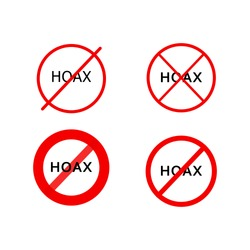 a logotype or typography about hoax, fake news icon, hoax icon. hoax icon set.