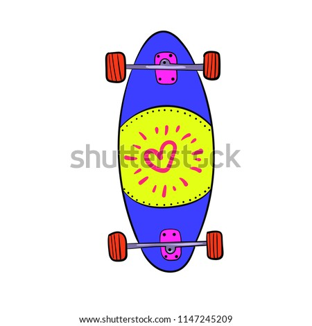 a longboard with a beautiful