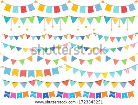 A lot of cute colorful garland