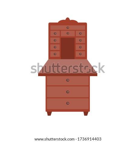 a lovely antique bureau old