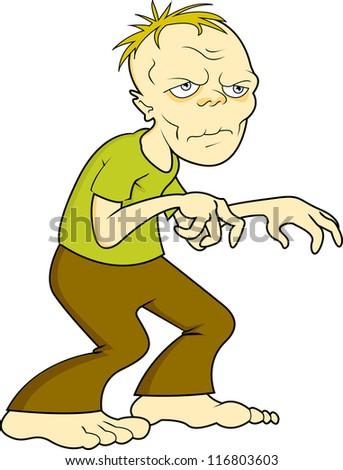 a male walking dead zombie