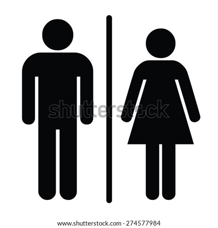 A man and a lady toilet sign