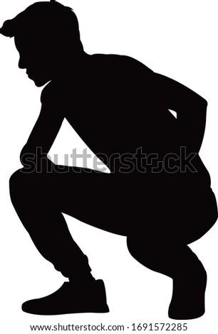 a man body silhouette vector Сток-фото ©
