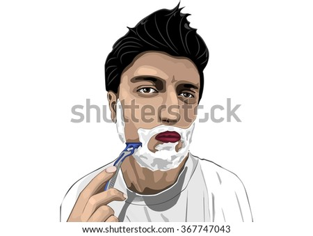 a man shaves art