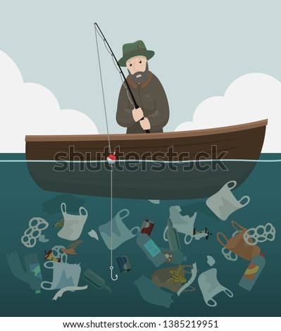 a man sits in a wooden boat
