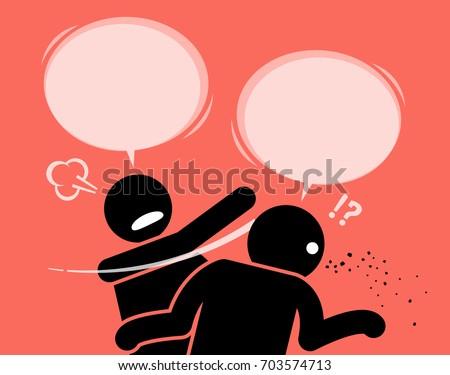 a man slaps his friend for