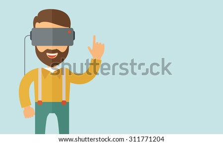 a man with isometric virtual