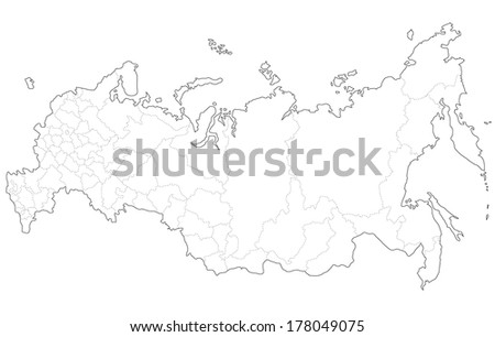 A map of Russia