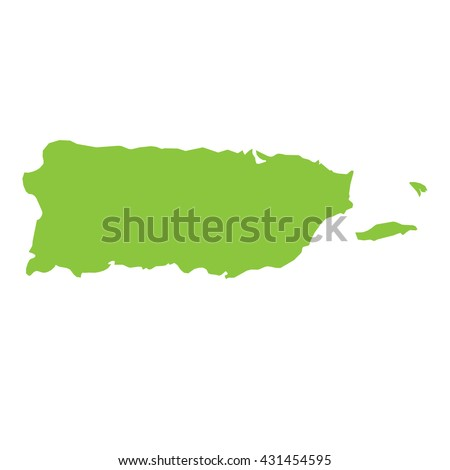 Shutterstock A Map of the country of Puerto Rico