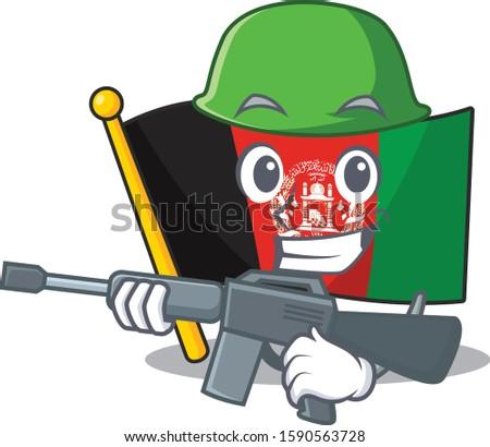 a mascot of flag afghanistan