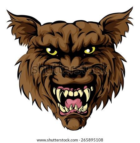 a mean looking werewolf wolf
