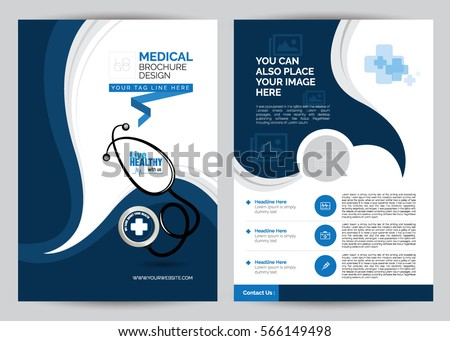 A4 Medical Brochure Design Template - Front & Back A4 Medical Brochure Design Template