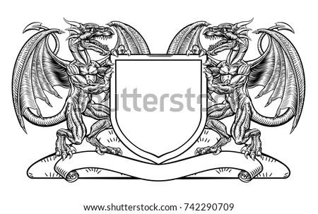 a medieval heraldic coat of