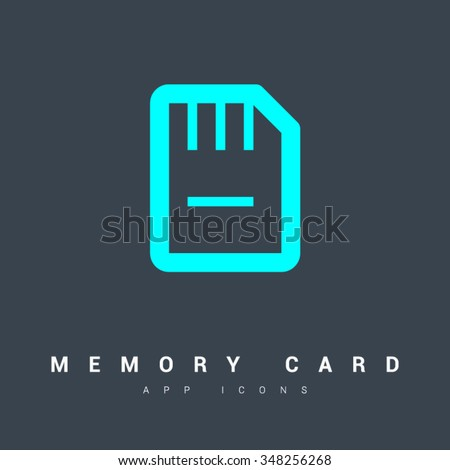 a memory card isolated minimal