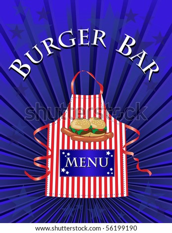 A menu template for a Burger Bar