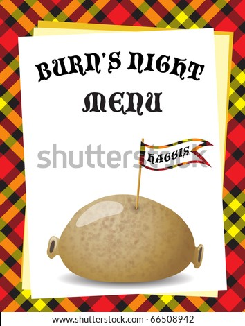 Haggar 0 free vector 4vector for Burns supper menu template