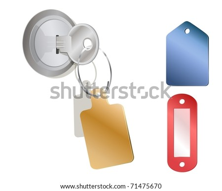 a metal key in a lock with a