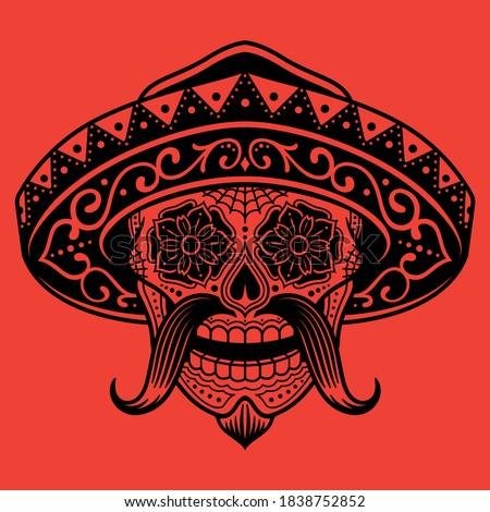 A Mexican Sugar Skull Bandit  Photo stock ©