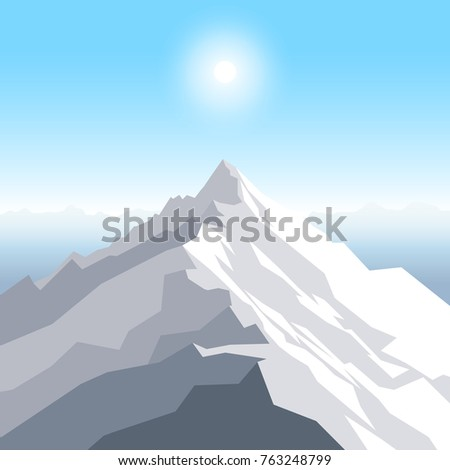 a midday sun over the mountains