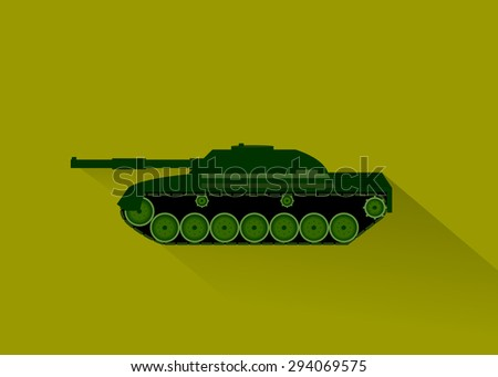 a military vehicle and arm