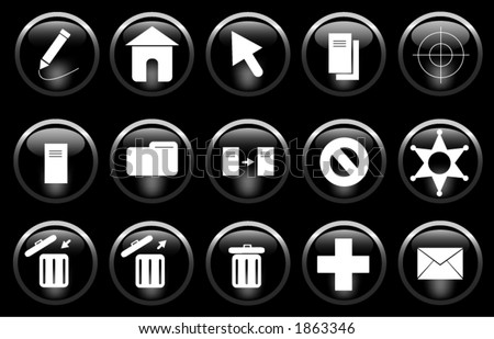 A miscellaneous set of buttons/icons.
