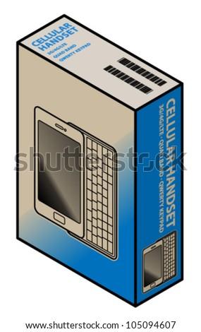 A mobile/cellular phone in a carton/box.