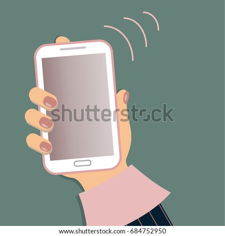 a mobile phone in the female s