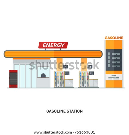 a modern gasoline column gas