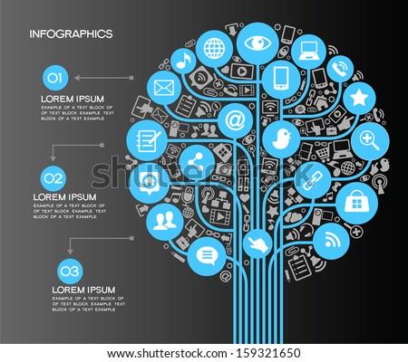 a modern set of infographics