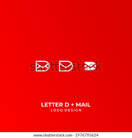 A modern, simple and unique logo about a letter or email and the letter D. EPS 10, Vector. Photo stock ©