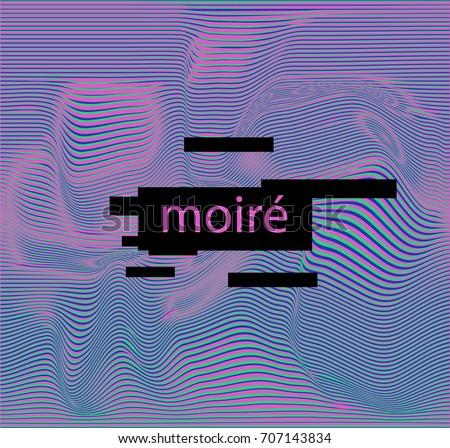 a moire pattern  moire fringes