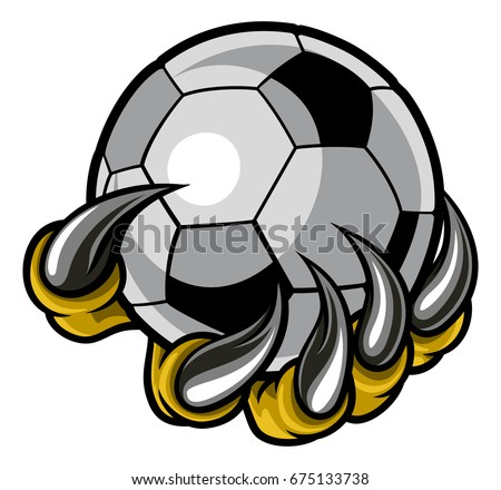 Shutterstock A monster or animal claw or hand with talons holding a soccer football ball