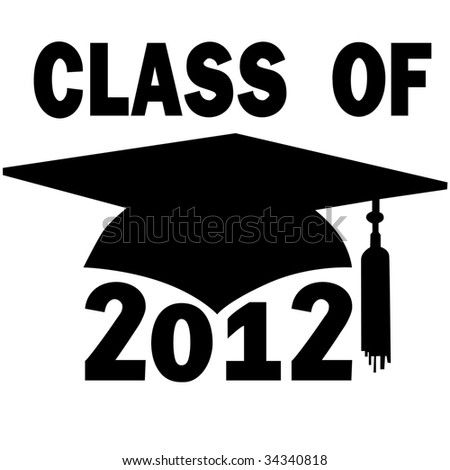 A mortar board and tassel Graduation Cap for a College or High School Class of 2012.