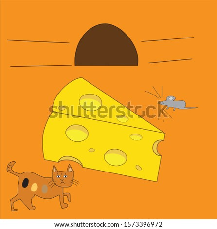 a mouse gets out of its hole