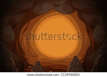 a mystery cave hole illustration