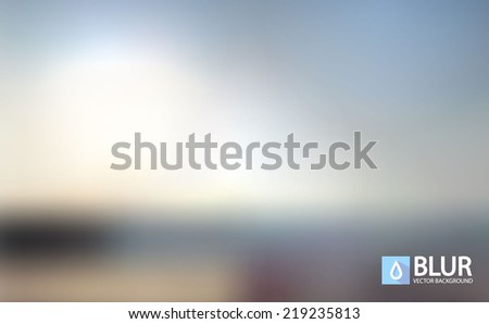 A nature landscape blurred background vector illustration.